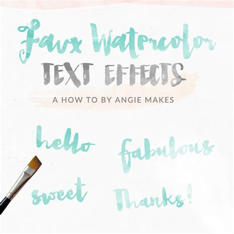 watercolor typography tutorial watercolor text effect in graphic design photoshop