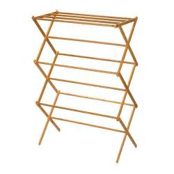 Clothes Dryer Rack Wall Mounted Wooden Expandable Clothes Drying Rack