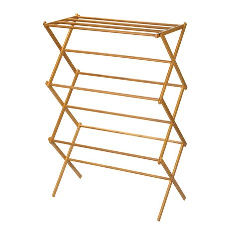 Dryer Racks by Wall Mounted Wooden Expandable Clothes Drying Rack