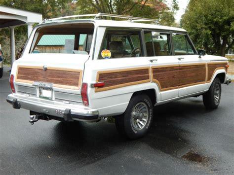 jeep wagoneer white jeep wagoneer suv 1988 white for sale 1jcnj15u9jt242918