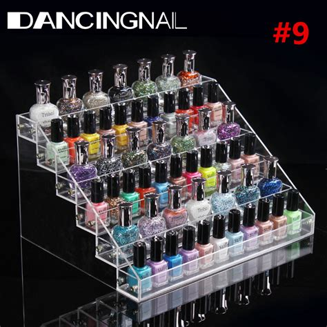 Acrylic Akrilik 2 Stacks Organizer nail acrylic clear makeup display stand rack