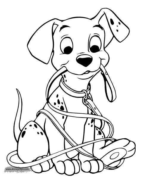 coloring page of a 101 dalmatians coloring pages 2 disney coloring book