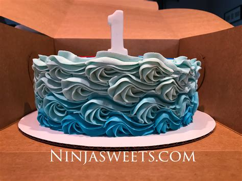 ocean themed  birthday cake  smash cake ninjasweetscom