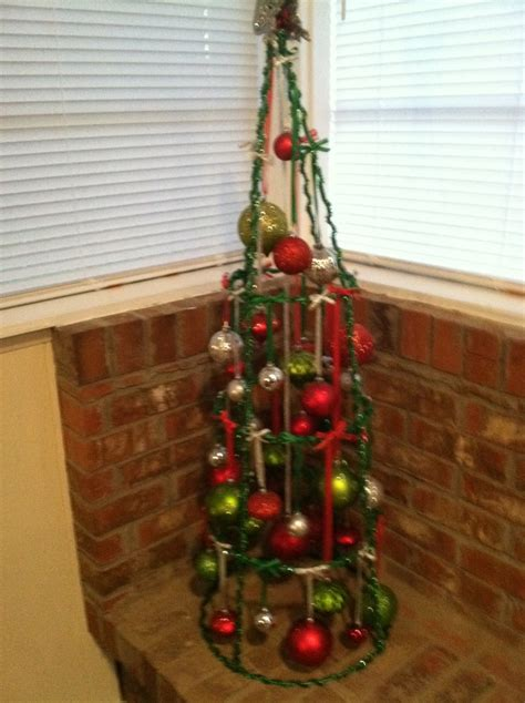 tomato cage christmas tree holidays seasonal flair