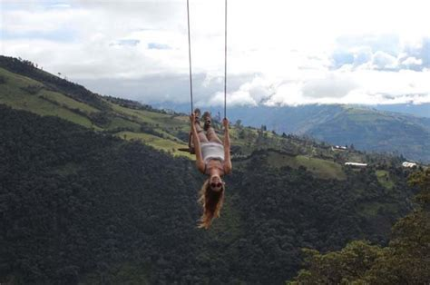 swing ecuador would you take a ride on this defying swing that
