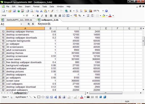 Kingsoft Spreadsheet by Kingsoft Office 2007 Free Personal Edition The Best