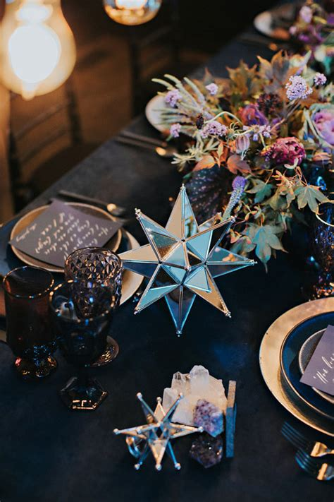 the moon themed wedding winter wedding ideas 100 layer cake