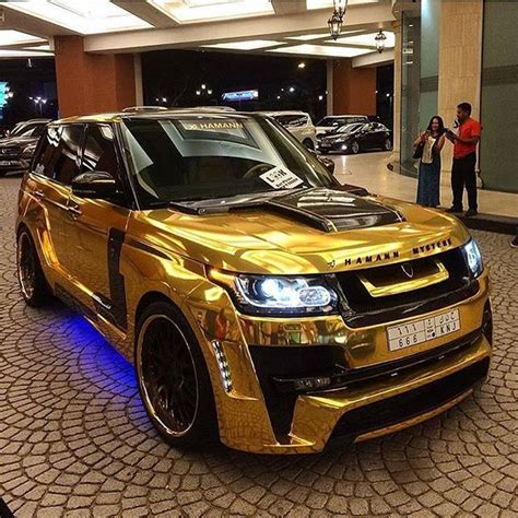 gold range rover chrome gold range rover via supercar photo by
