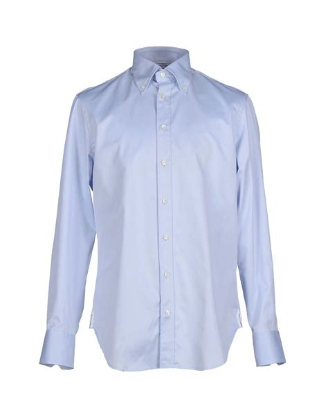 arrow shirt blue lyst arrow shirt in blue for