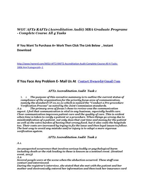 Wgu Accreditation Mba wgu aft2 raft2 accreditation audit mba graduate programe