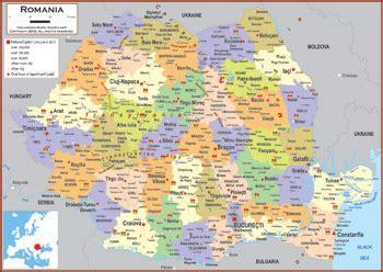 political map of romania romania maps academia maps