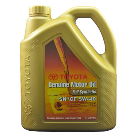 Toyota Fully Synthetic Review Toyota Fully Synthetic 5w40 4l Sn Cf Advance Auto