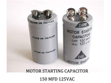motor starting capacitor 150 mfd 250vac 150 mfd 125 vac allen creations corp