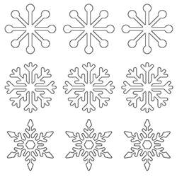 Snowflake Templates Easy by Free Printable Snowflake Templates Large Small Stencil