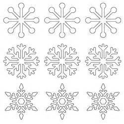 small template to print free printable snowflake templates large small stencil