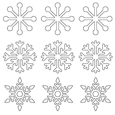 Printable Snowflakes Small | free printable snowflake templates large small stencil