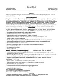 resume templates for experienced it professionals sle resume for experienced it professional sle