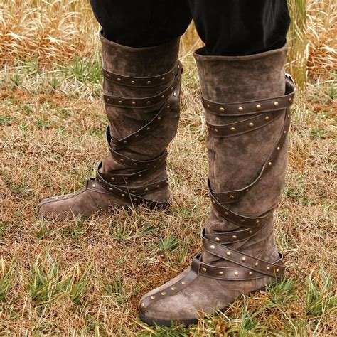 warrior boats clothing warrior boots brown suede re enactment stage larp
