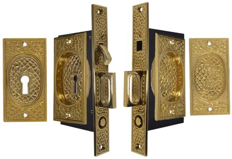 pattern lock door craftsman pattern double pocket privacy lock style door