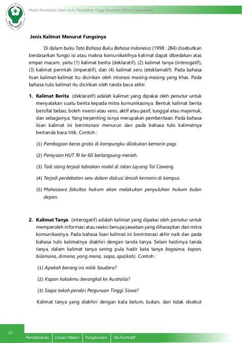 Intisari Tata Bahasa Indonesia tata kalimat bahasa indonesia yang efektif