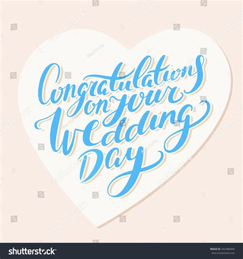 Wedding Congratulations Vector by Congratulations On Your Wedding Day Greeting Stock Vector