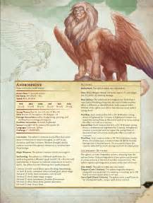 d amp d 5th monster manual preview sphinx dmb games