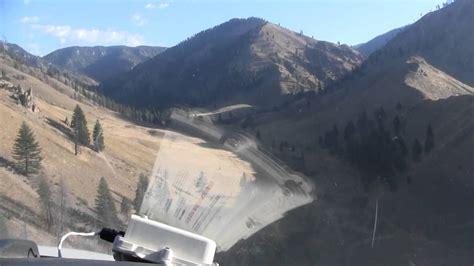 Cabin Creek Idaho by Cockpit View Landing At Cabin Creek In The Idaho Back