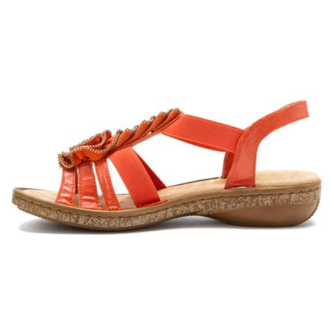 orange sandals for rieker women s 62877 sandals in orange leather