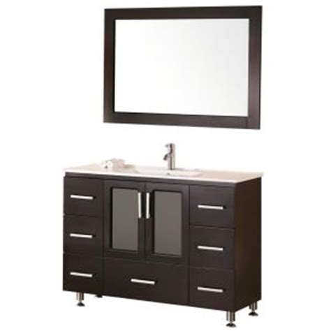 home depot design element vanity design element stanton 48 in w x 18 in d vanity in