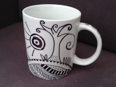 design your own mug with permanent marker decorated mug my kid craft