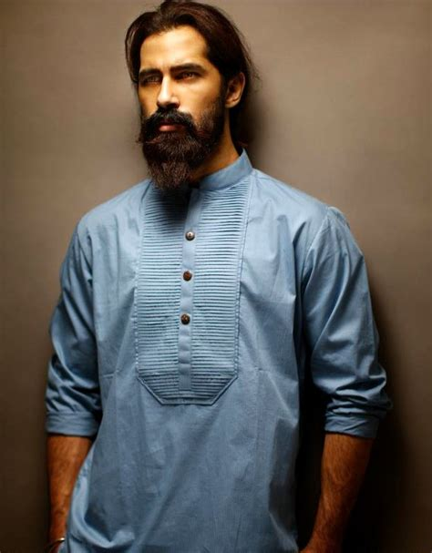 pakistani beard style kurta pajama for men designs with nehru jacket punjabi