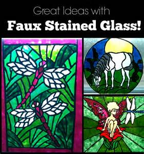 Stained Glass Window Paint Beautiful Faux Stained Glass Creations