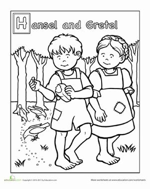 Hansel And Gretel House Coloring Sheet Coloring Pages Hansel And Gretel Coloring Page