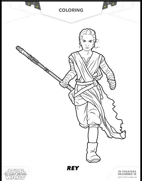 8 Free Star Wars The Force Awakens Coloring Sheets Wars Printable Coloring Pages