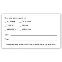 Appointment Business Card Template Appointment Card 1 Iprint Com