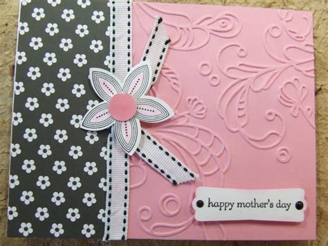 handmade mothers day cards handmade mothers mother s day card embossed using stin