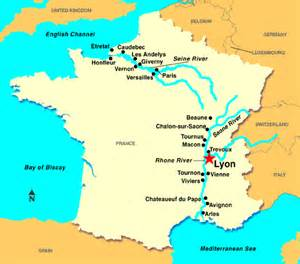 Lyon France Map lyons france map