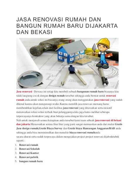 Jasa Renovasi Dan Bangun by Jasa Renovasi Rumah Dan Bangun Rumah Baru Dijakarta Dan