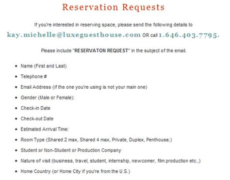 Reservation Letter By Email Search Results 184 Eagle Newyorkshitty