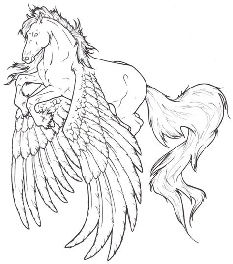 winged horse coloring page winged horses of balinor characters horse lineart for whob