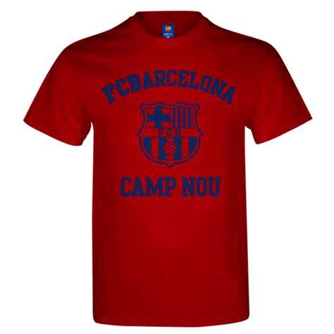 Tshirt Barcelona 13 fc barcelona c nou childrens boys crew sleeve cotton logo t shirt ebay