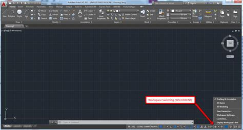 reset toolbars autocad how to change the workspace in autocad 2015 and in the