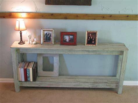Diy Rustic Pallet Sofa Table Pallet Furniture Plans Diy Sofa Table