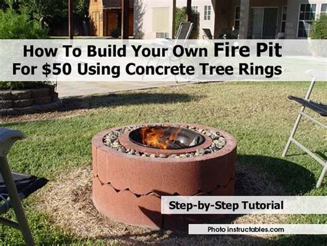 how to make your own pit how to build your own pit for 50 using concrete tree