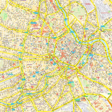 vienna map maps update 35002476 tourist map of vienna map of vienna tourist attractions sightseeing and