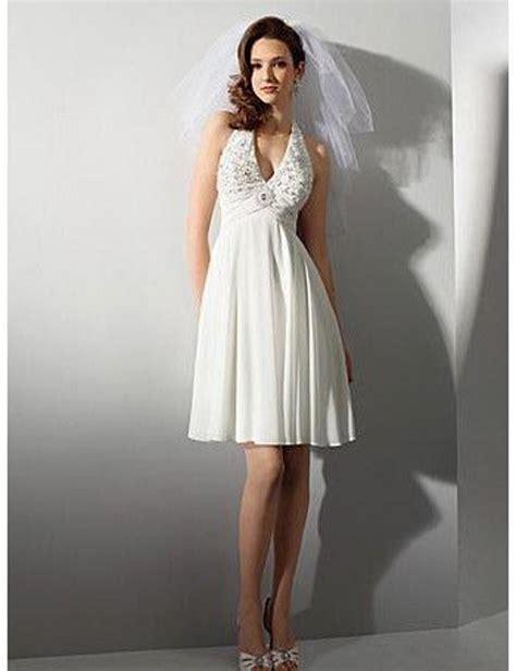beach wedding dresses casual short free shipping halter lace short chiffon beach wedding