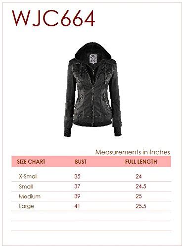 Sweater Hoodie Zipper Chain 2 wjc664 womens faux leather jacket with hoodie l black