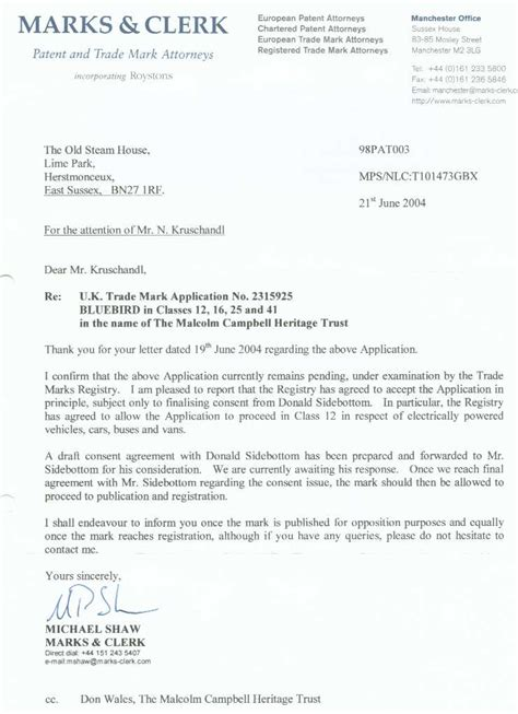 Request Letter For Transfer Of Real Estate Unit Don Wales Donald Charles
