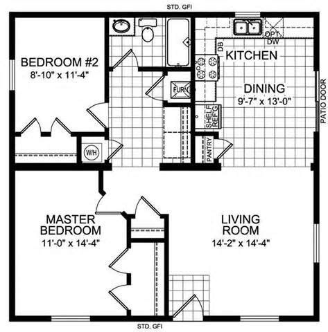 1 floor plan 1 bedroom 30 x 20 house floor plans lake home ideas