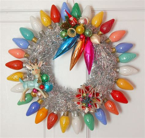 the wreath blog by georgiapeachez vintage christmas lights